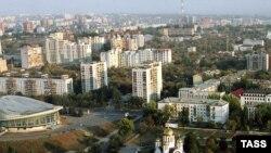 Russia -- Samara . View to the Slava square. -20sep2005