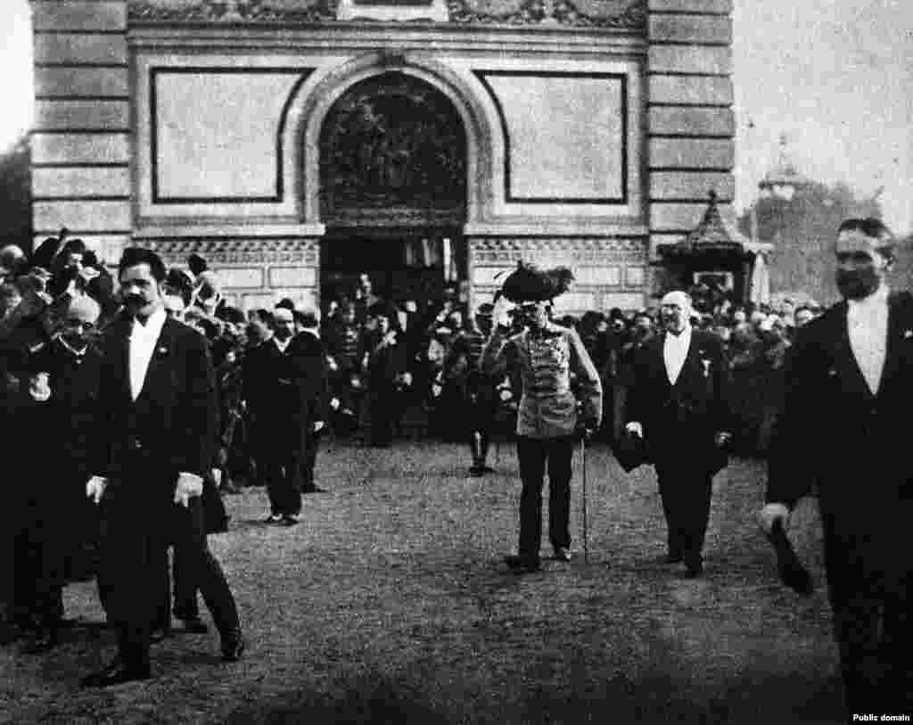 Emperor Franz Josef visiting Prague in 1891, when today's Czech Republic and Slovakia were a part of the Austro-Hungarian Empire.