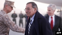 U.S. Secretary of Defense Leon Panetta upon his arrival to Kabul on December 13.