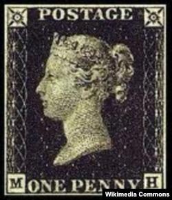 """Британская почтовая марка с изображением королевы Виктории. Одним из ее титулов был """"императрица Индии"""""""