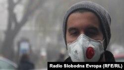 Општина Центар во Скопје е најзагадена општина , според мерните едници на 24.12.2018. Смог, магла, загадување, загаден воздух.