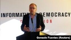 """Sekretari i Përgjithshëm i Organizatës """"Reporterët pa kufij"""" Christophe Deloire."""