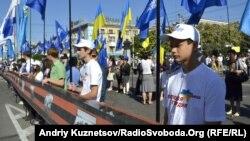 Акція «Георгіївська стрічка» у Луганську, 9 травня 2013 рок