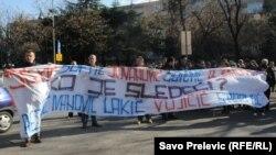 Protest novinara zbog napada na kolege, mart 2012.