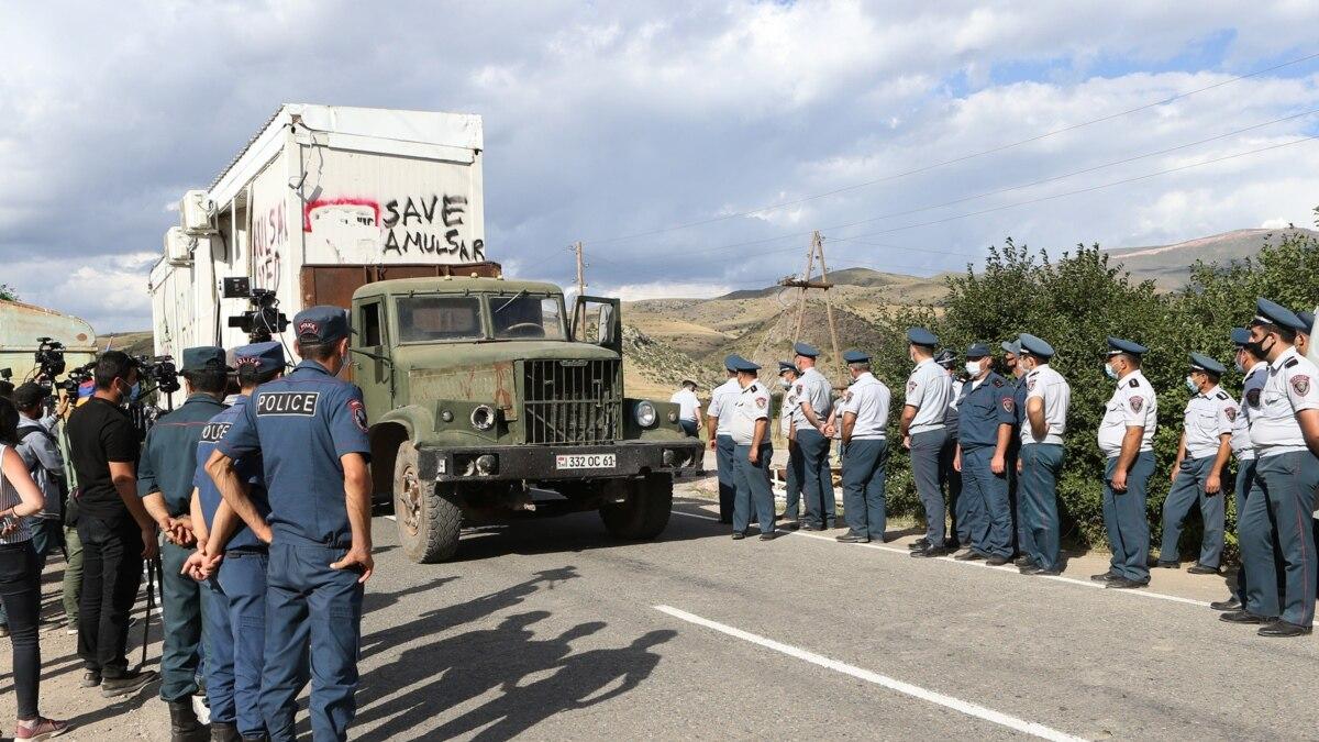 Демонтированы и вывезены с территории Амулсара вагоны-домики охранной службы «Лидиан Армения»