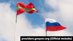 Drapelurile Transnistriei și Federației Ruse