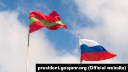Steagurile rus și transnistrean