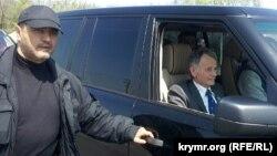 Мустафа Джемилев на Турецком валу, 3 мая 2014 года