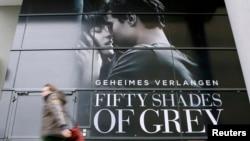 "Plakat filma ""Fifty Shades of Grey"", Berlin"