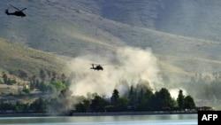 Ауғанстанда әскери миссиясын атқарып жүрген америкалық Black Hawk тікұшағы. Көрнекі сурет.