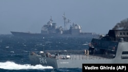 NATO says its ships routinely patrol and conduct exercises in the Black Sea. (file photo)