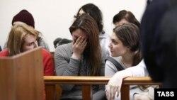 Мария Дубовик и Анна Павликова в суде