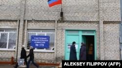Місце проведення так званих «виборів» в окупованому Донецьку, 11 листопада 2018 року