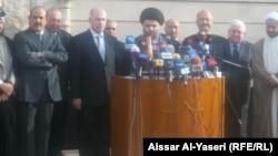 اجتماع العراقية والكردستاني والتيار الصدري في النجف