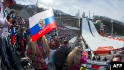 There may be Russian flags in evidence at this year's Winter Olympics, but only in fan enclosures. (file photo)