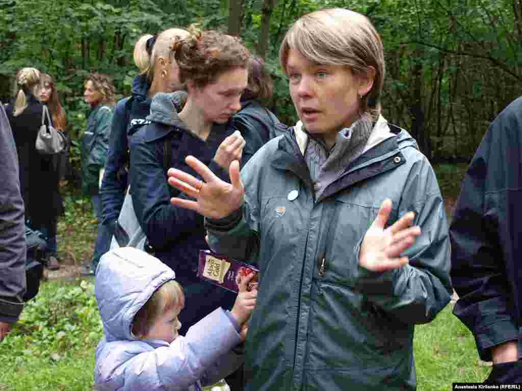 Activist Yevgenia Chirikova in the Khimki forest on August 30. She heads EcoDefense, the ecological group spearheading the Khimki protests.