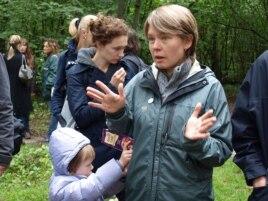 Евгения Чирикова на защите Химкинского леса. 30 августа 2010 года