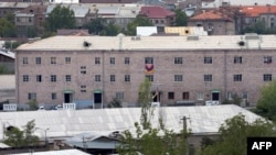 Armenia - A general view of Erebuni police station seized by gunmen and supporters of fringe jailed opposition leader Zhirair Sefilian, in Yerevan, July 30, 2016.