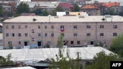 Armenia == A general view of Erebuni police station seized by gunmen and supporters of fringe jailed opposition leader Zhirair Sefilian, in Yerevan, July 30, 2013
