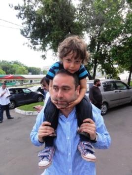 Михаил Калужский с сыном