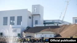 Nagorno-Karabakh - Officials inaugurate an ore processing plant built near the Kashen copper deposit, 26Dec2015.