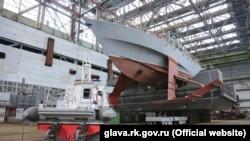 Строительство корабля на судостроительном заводе «Море». Феодосия, 2016 год