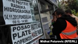 Protest radnika Hidrogradnje, novembar 2013.