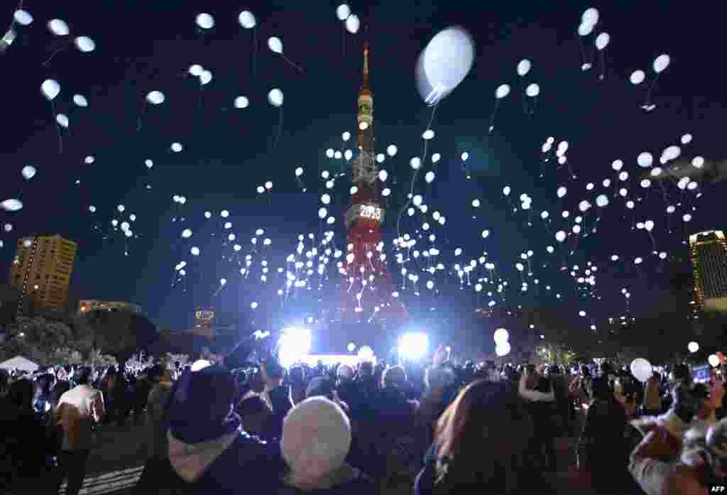 Viti i Ri, festimi në Tokio, Japoni, 1 janar 2013.