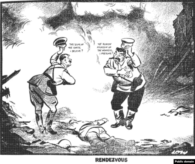 "A British perspective on the nonaggression pact in a cartoon by David Low, published in the ""Evening Standard"" on September 20, 1939"