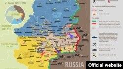 Situația din estul Ucrainei în 21 august 2014.
