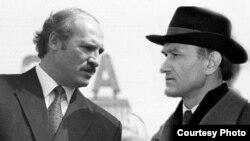 Каляж. Аляксандар Лукашэнка і Зянон Пязьняк