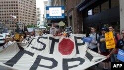 Proteste în SUA împotriva Acordului de Parteneriat în zona Pacificului