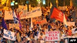 Одна из летних акций протеста в Израиле