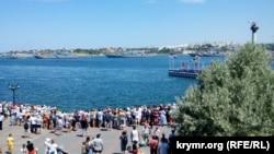 Репетиция российского Дня флота в Севастополе, 24 июля 2020 года