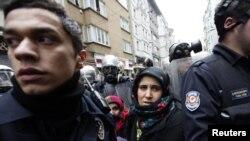 عکس مربوط به تظاهرات طرفداران کردها در استانبول در فوریه سال جاری