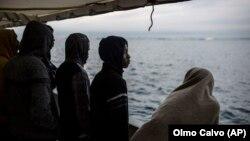 Migrantët në Detin Mesdhe.
