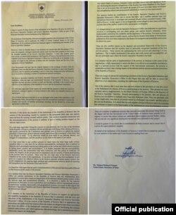 Letra që presidenti Thaçi i ka shkruar sekretarit Pompeo.