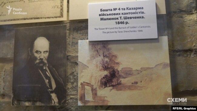 Олексіївський люнет – на одному з малюнків з 19-го століття поета Тараса Шевченка