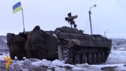 Fighting At A Ukrainian Army Checkpoint In Eastern Ukraine