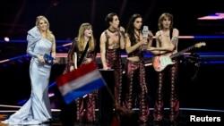 Maneskin тобы Eurovision кубогын алған сәт. 22 мамыр 2021 жыл.