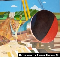 """Друга от картините на Симеон Кръстев на газопровода """"Балкански поток"""""""