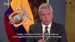 """Ekwadoryň prezidenti: """"Mylakatsyz we gaharjaň"""" Assanž indi bosgunlyga """"mynasyp däl"""""""