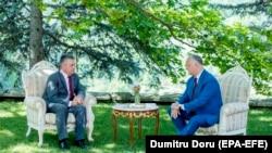 Președintele Igor Dodon l-a primit la reședința de vară de la Condrița pe liderul de la Tiraspol, Vadim Krasnoselskyi, 28 iulie 2020.