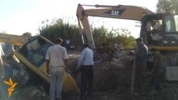 Traktor agdaryldy