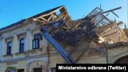 Daunele provocate de cutremur în Petrinja, Croația, 29 decembrie