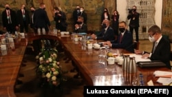 Leaders of the Visegrad countries meet in Krakow, Poland on February 17.