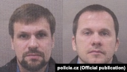 Предполагаемые офицеры ГРУ России Анатолий Чепига и Александр Мишкин