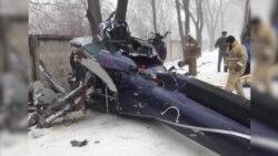 В Алма-Ате упал вертолет компании, которая занимается VIP-перевозками