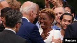 Pentru prima dată în mandatul său, președintele Joe Biden a invitat la Casa Albă în jur de o mie de persoane pentru a celebra ziua independenței SUA, pe 4 iulie, Washington, 4 iulie 2021.