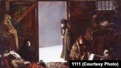 Картина чеченского художника Султана Юшаева